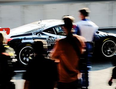 picture of a racing ferrari